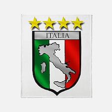 Italia Shield Throw Blanket