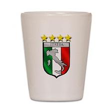 Italia Shield Shot Glass