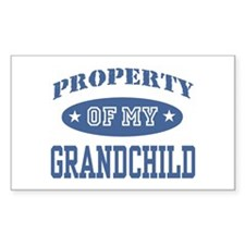 Property Of My Grandchild Rectangle Decal