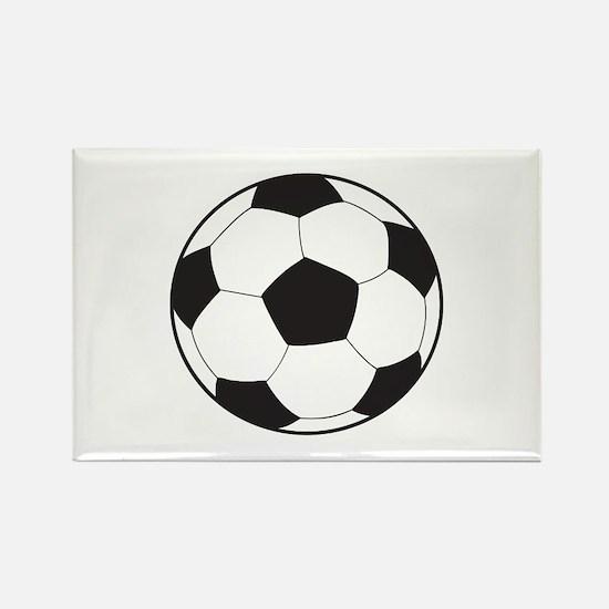 Soccer Ball Rectangle Magnet