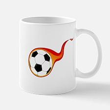 Burning Soccer Ball Mug