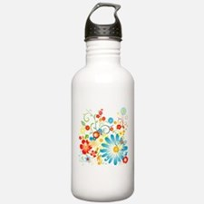 Floral explosion of color Water Bottle