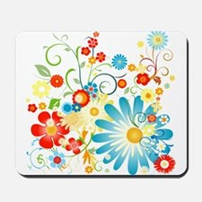 Floral explosion of color Mousepad