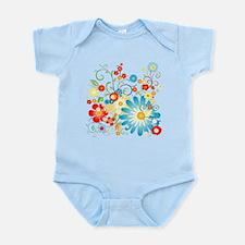 Floral explosion of color Infant Bodysuit