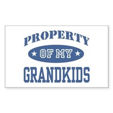 Property Of My Grandkids Rectangle Decal