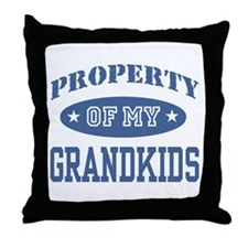 Property Of My Grandkids Throw Pillow