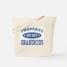 Property Of My Grandkids Tote Bag