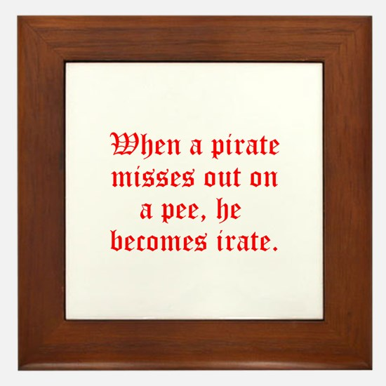 Irate Pirate Framed Tile