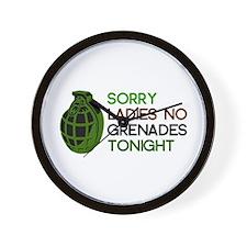Ugly Friend Grenades Wall Clock