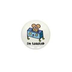 Happy Toaster Mini Button (10 pack)