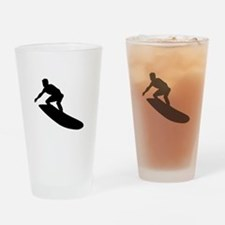 Surfing Drinking Glass