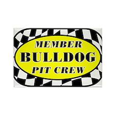Bulldog PIT CREW Rectangle Magnet
