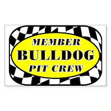 Bulldog PIT CREW Decal