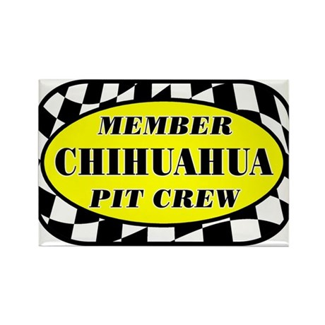 Chihuahua PIT CREW Rectangle Magnet