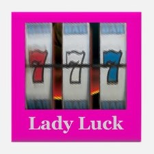 Lady Luck 777 Tile Coaster