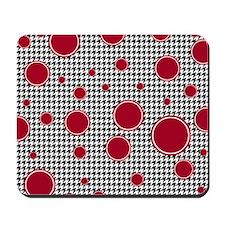 Houndstooth & Crimson Mousepad