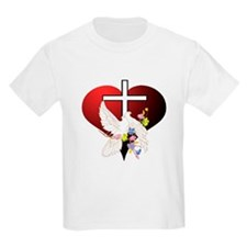Christian Dove and Cross Kids T-Shirt