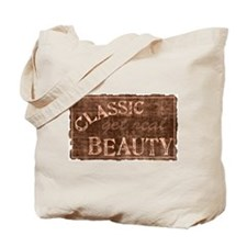 Classic Beauty Get Real Distressed Tote Bag