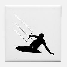 Kitesurfing Tile Coaster