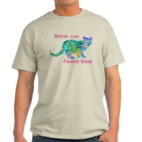 Rescue is Favorite Breed Multi Colors Light T-Shir