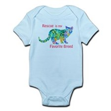 Rescue is Favorite Breed Multi Colors Infant Bodys