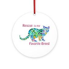 Rescue is Favorite Breed Multi Colors Ornament (Ro