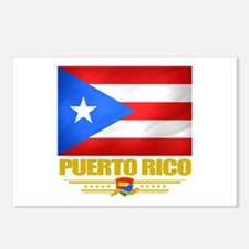 Flag of Puerto Rico Postcards (Package of 8)