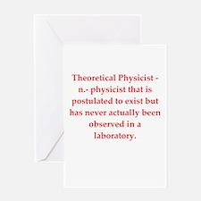 funny science joke Greeting Card