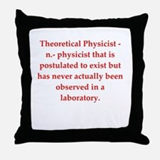 funny science joke Throw Pillow