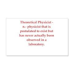 funny science joke 22x14 Wall Peel