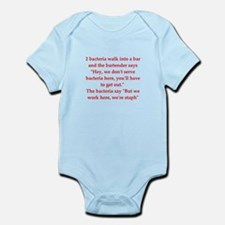 funny science joke Infant Bodysuit
