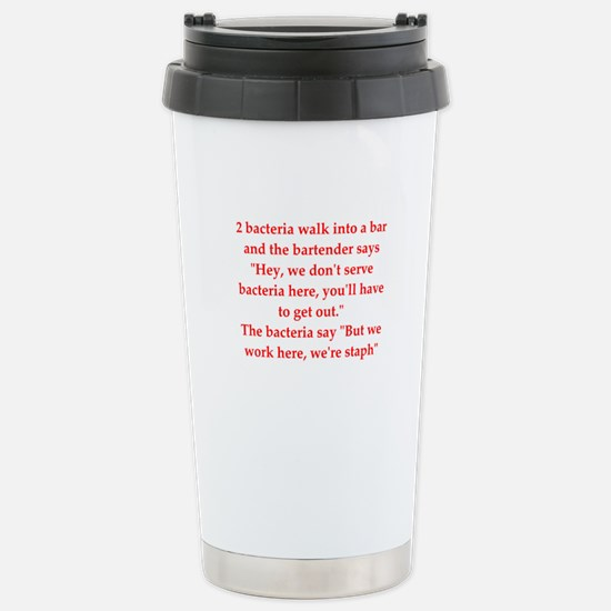 funny science joke Stainless Steel Travel Mug