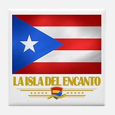 La Isla Del Encanto Tile Coaster