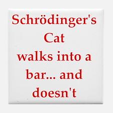 funny science joke Tile Coaster