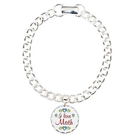 I Love Math Charm Bracelet, One Charm