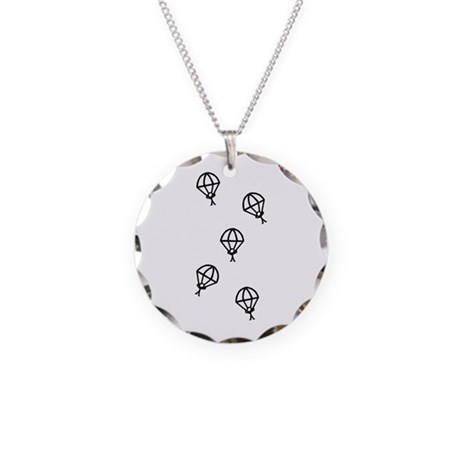 'Skydive' Necklace Circle Charm