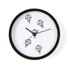 'Skydive' Wall Clock