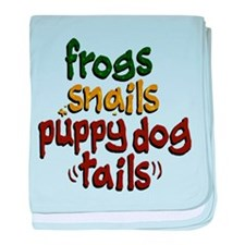 Frog Snails Puppydog Tails baby blanket