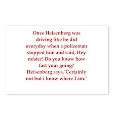 funny science joke Postcards (Package of 8)