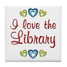 Love the Library Tile Coaster
