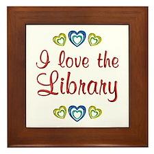 Love the Library Framed Tile