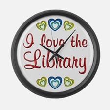 Love the Library Large Wall Clock