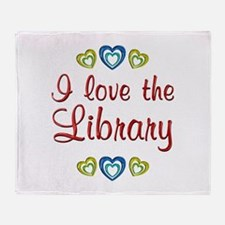 Love the Library Throw Blanket