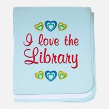 Love the Library baby blanket
