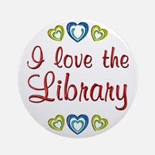 Love the Library Ornament (Round)