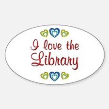 Love the Library Sticker (Oval)