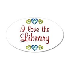 Love the Library 22x14 Oval Wall Peel