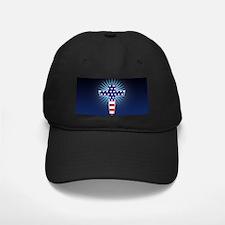 American Flag Cross Baseball Hat