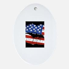 American Kiss Ornament (Oval)
