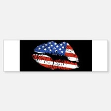 American Kiss Bumper Bumper Sticker